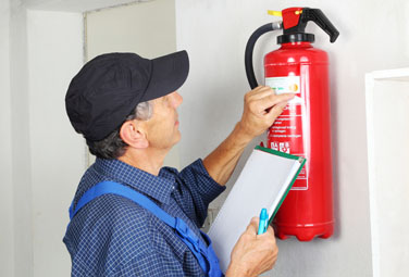 Image inspect fire extinguishers